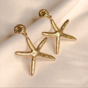 Mermaid Collection 🧜🏻♀️ Gold Sea Stars Earrings